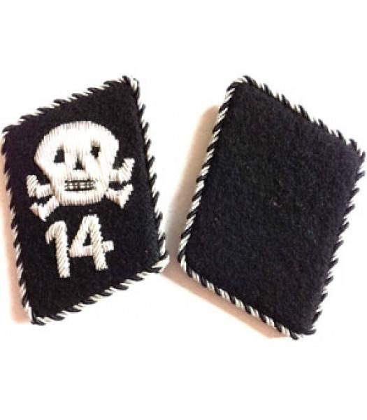 SS Totenkopfstandart collar tabs - 1 pair