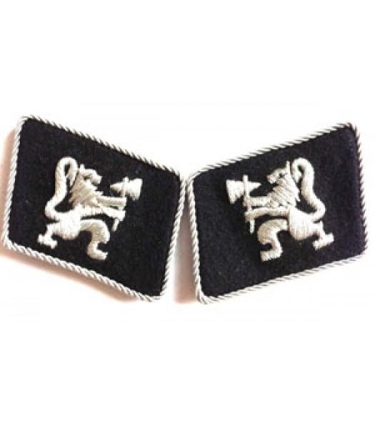 SS Legion Norwegian officer collar tabs - 1 pair
