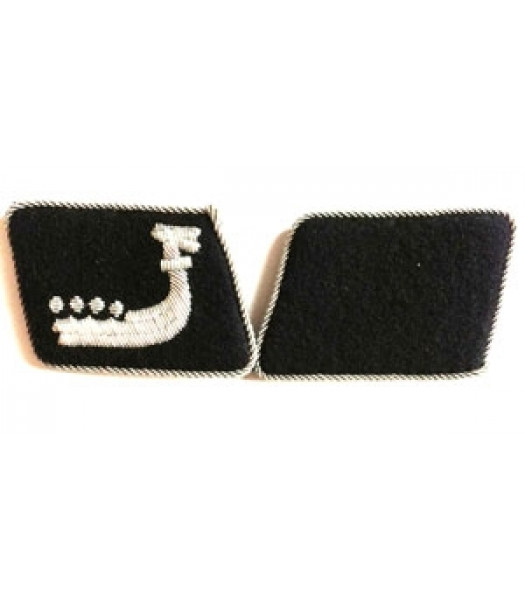 SS Wiking officer collar tabs - 1 pair