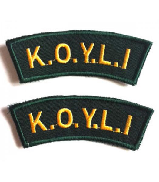 Kings Own Yorkshire Light Infantry Shoulder Titles