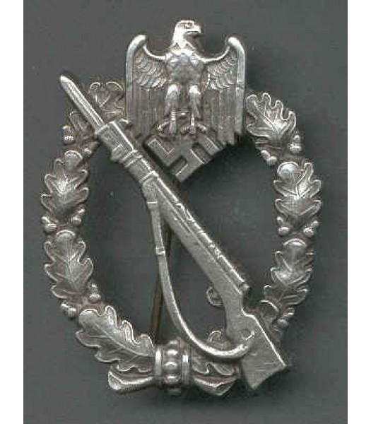 Reproduction German WW2 Infantry Assault Badge (SILVER)
