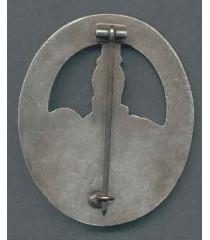WW2 German Anti-Partizan badge (silver)