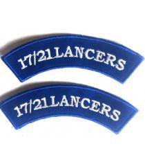 17/21 Lancers Shoulder Titles