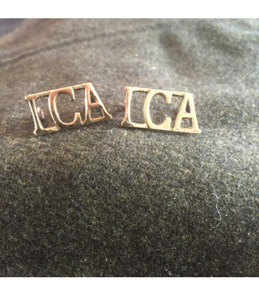 Irish Citizen Army Tunic Shoulder Board Ciphers - 1 Pair