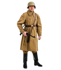 WW2 German Afrika Korps Windproof Overcoat Kradmantel