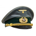WW2 German Officer Tricot Visor Caps