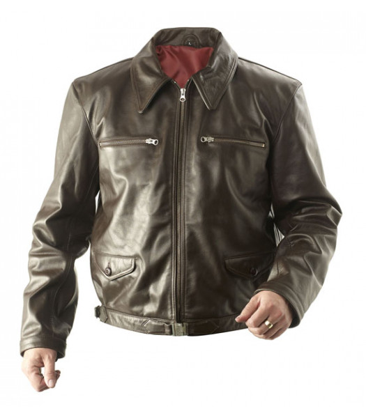 WW2 German Luftwaffe Eric Hartmann leather jacket BROWN