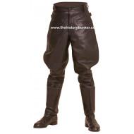 WW2 German style M32 leather breeches Black