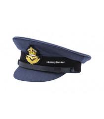 WW2 RAF officer cap with cloth peak