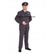 WW2 British RAF uniform with KC Buttons, Sewn in Belt, padded KC wings