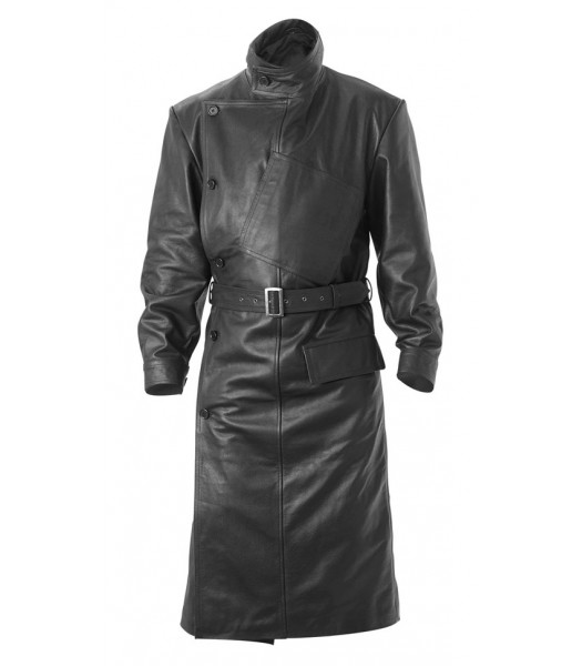 WW1 RFC Royal Flying Corps Leather Coat - BLACK