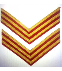 Junior officer 1st Lt sleeve chevrons - WWII RED ARMY UNIFORMS