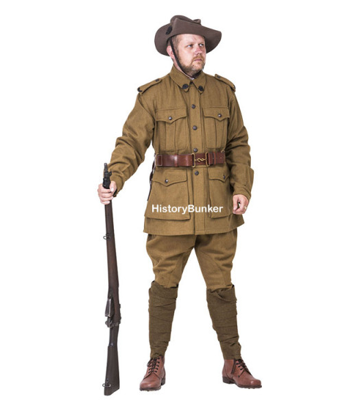 WW1 Australian 2nd pattern Army uniform - WW1 ANZAC uniforms - WW1 AIF uniform - world war one australian army uniforms