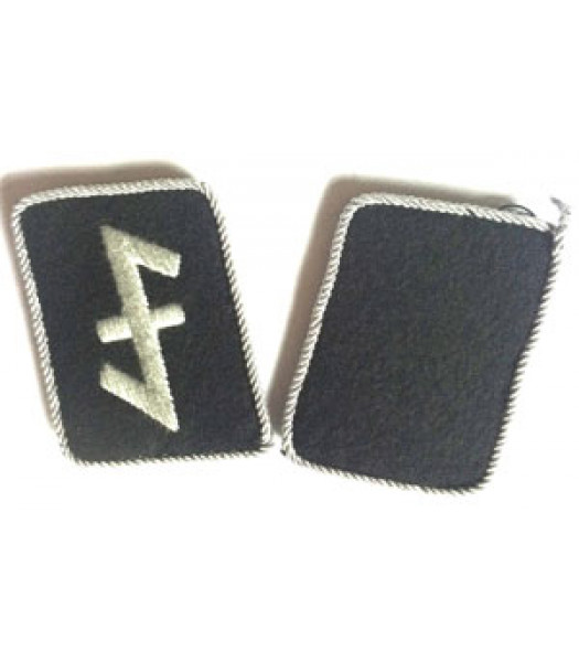 23rd Division Nederland SS Officers Collar Tabs - 1 Pair