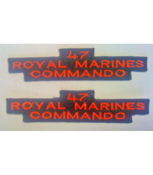 47 Royal Marine Commando Shoulder Titles