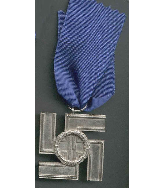 WW2 German SS Long Service Medal 12 years