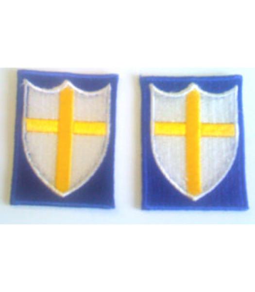 8th Army -  1 Pair - WW2 British Insignia