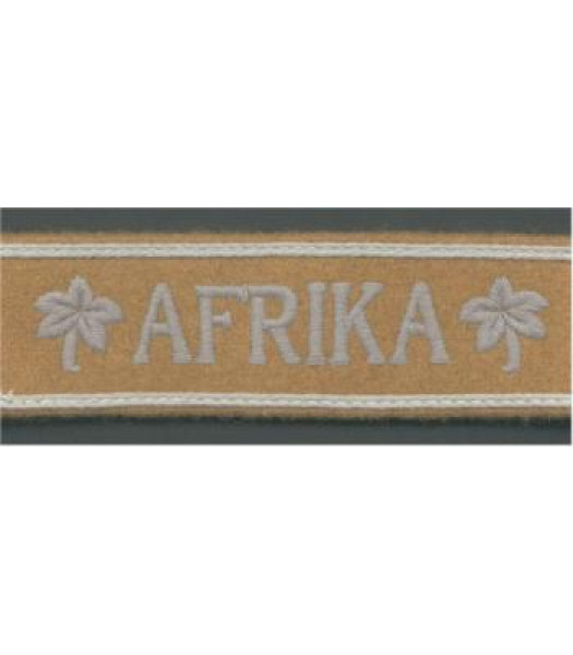 Afrika Korps Cuff Title - Officers Style