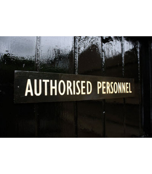 WW2 British Authorised Personnel door sign
