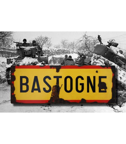 Bastogne - Vintage Road and Place Name Sign