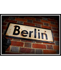 Berlin - Vintage Road and Place Name Sign