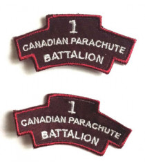 1st Canadian Division Paratrooper Shoulder Titles - 1 Pair