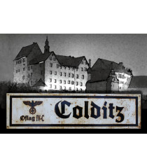 Colditz - Vintage WW2 Road And Place Name Sign