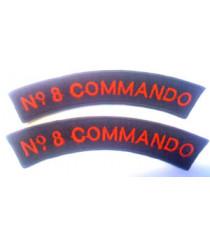 No 8 Commando shoulder titles
