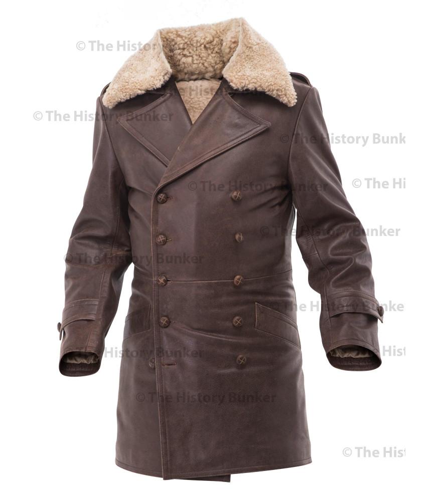 697079906 Czech Sniper leather coat