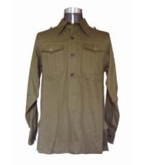 German Afrika Korps M40 Shirt - Long Sleeved Green