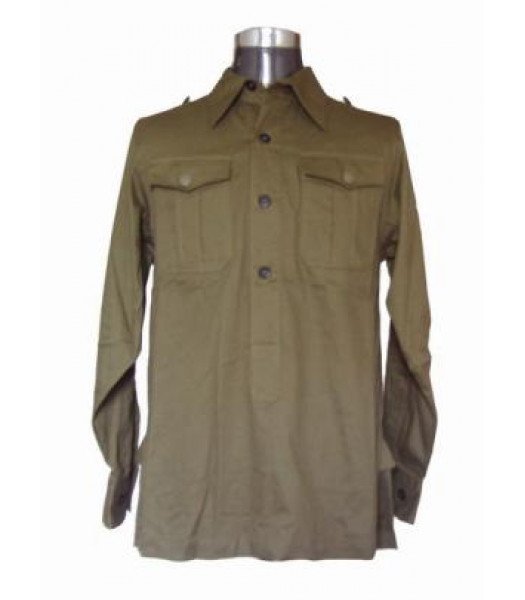 German Afrika Korps M40 Shirt - Long Sleeved Green