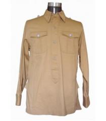 German Afrika Korps M40 Shirt - Long Sleeved Tan