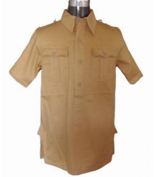German Afrika Korps M40 Shirt - Short Sleeved Tan