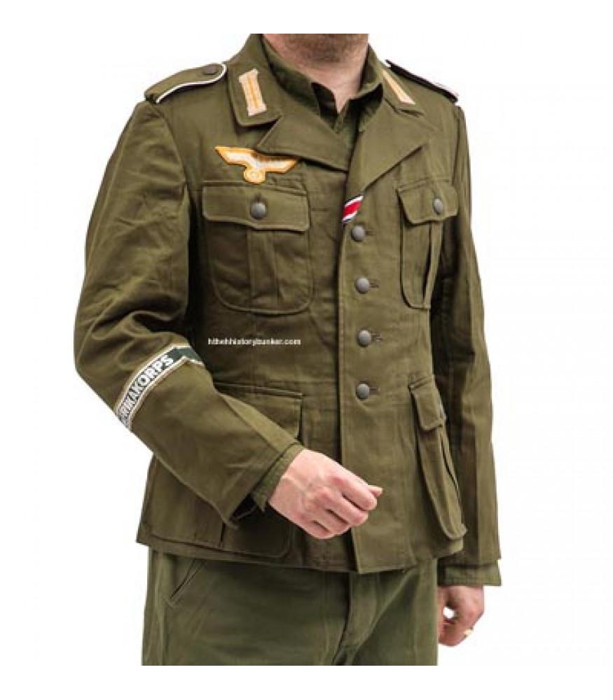 55d3bab6a5c German Afrika Korps Olive Green M40 Field Tunic