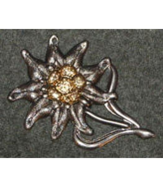 Gebirgsjager Metal Cap Badge