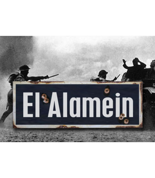 El Alamein - Vintage WW2 Road And Place Name Sign