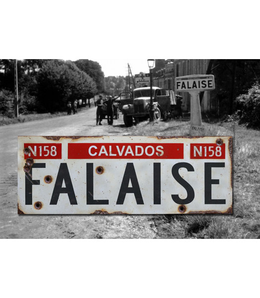 Falaise - Vintage WW2 Road And Place Name Sign