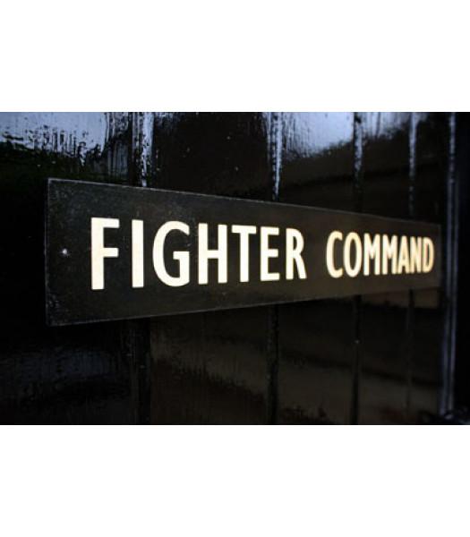 """WW2 British """"Fighter Command"""" door sign"""