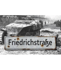 Friedrichstrasse - Vintage WW2 Road And Place Name Sign