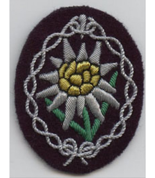 Gebirgsjager Edelweiss Officers Sleeve Badge
