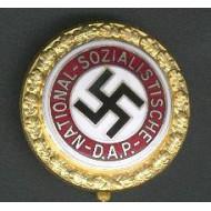 German Nazi Party NSDAP Party Members Badge (Gold)