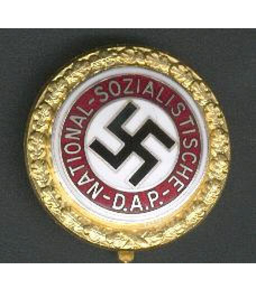German Nazi Party NSDAP Party Members Badge (Gold)