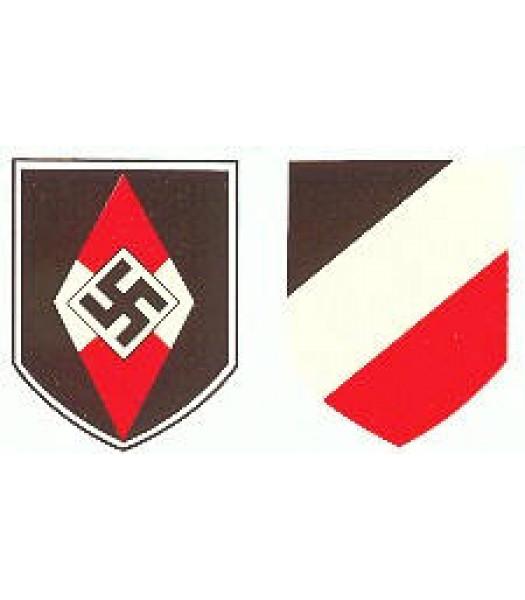 M35/M42 German Helmet - Hitler Youth Decal