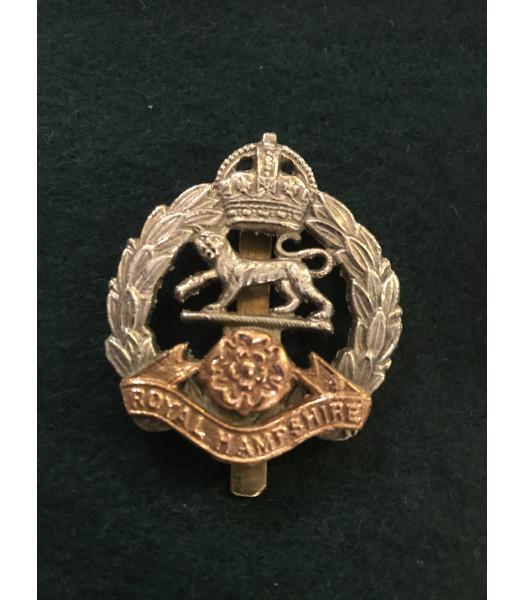 Royal Hampshire regiment cap badge WW1