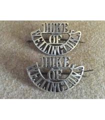 Duke of Wellington shoulder titles WW1
