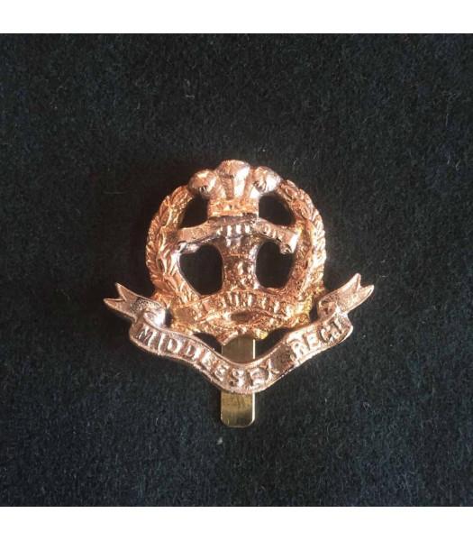 Middlesex regiment cap badge WW1
