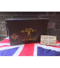 MILITARY PROP HIRE - post war British 303 ammunition box