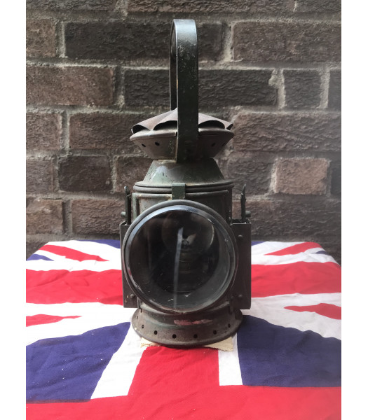 MILITARY PROP HIRE - WW2 British railways oil lamp lantern