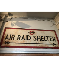 MILITARY PROP HIRE Air Raid Shelter sign