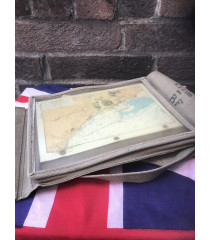 MILITARY PROP HIRE - 1944 WW2 British officers map case and map